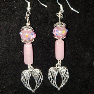 Artisian Crafted Glass Bead Earrings